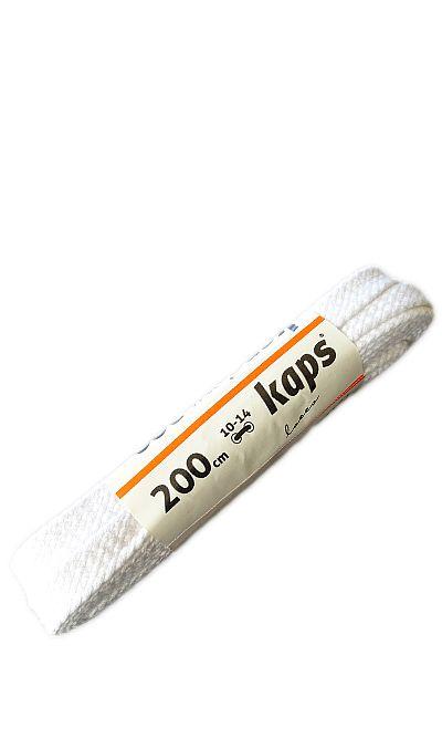 Białe, płaskie, sznurówki do butów 200 cm Kaps
