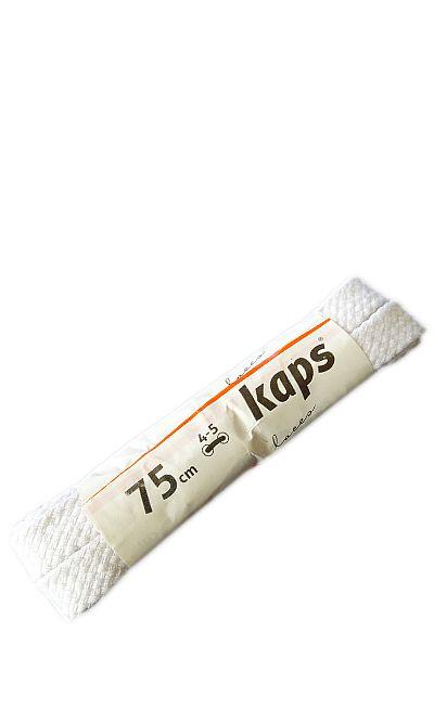 Białe, płaskie, sznurówki do butów 75 cm Kaps