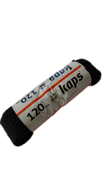 Czarne, płaskie, sznurówki do butów 120 cm Kaps