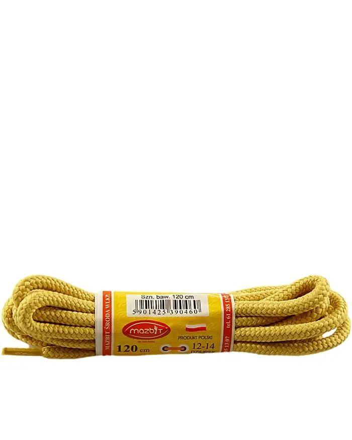 Miodowe, trekkingowe sznurówki do butów 120 cm Mazbit