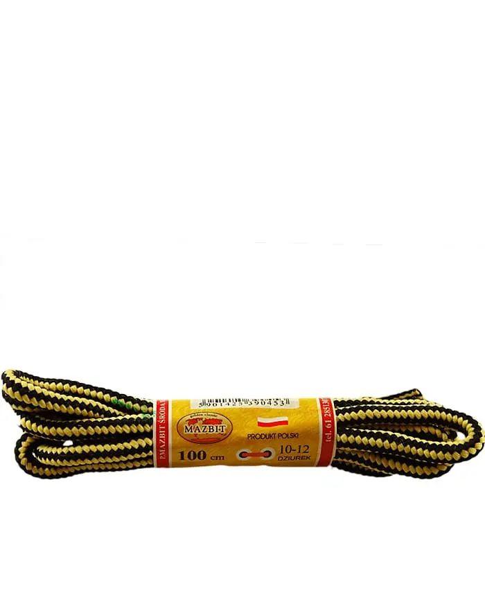 Miodowo-czarne, trekkingowe sznurówki do butów 200 cm Mazbit