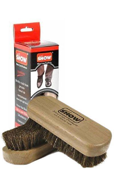 Szczotka do polerowania obuwia, naturalne włosie, Show