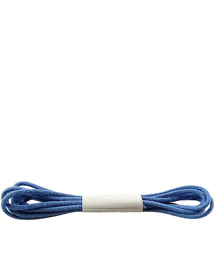 Niebieskie sznurówki do butów, cienkie, woskowane, 75 cm Halan