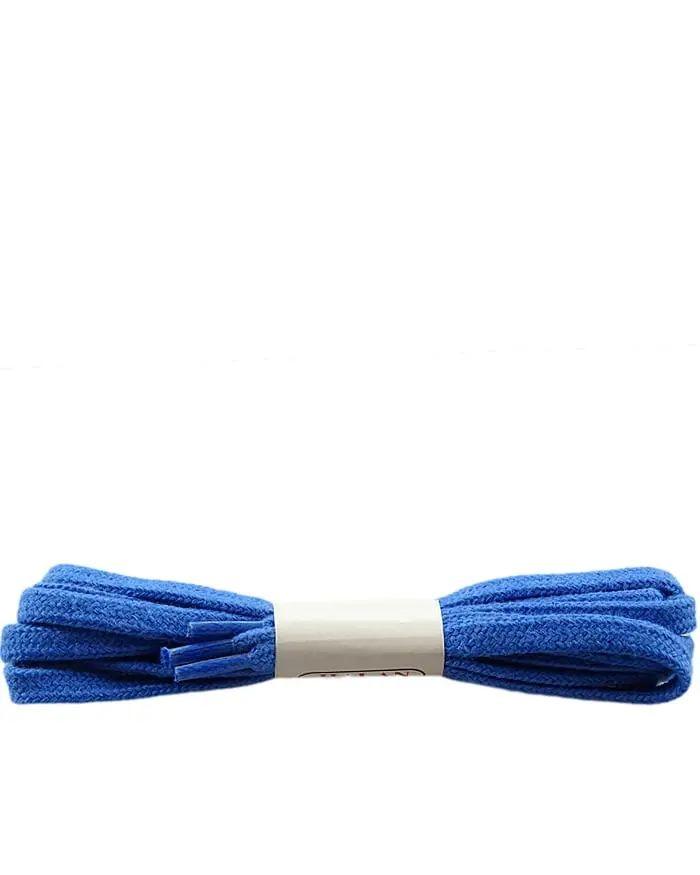 Niebieskie, płaskie, sznurówki do butów 120 cm Halan