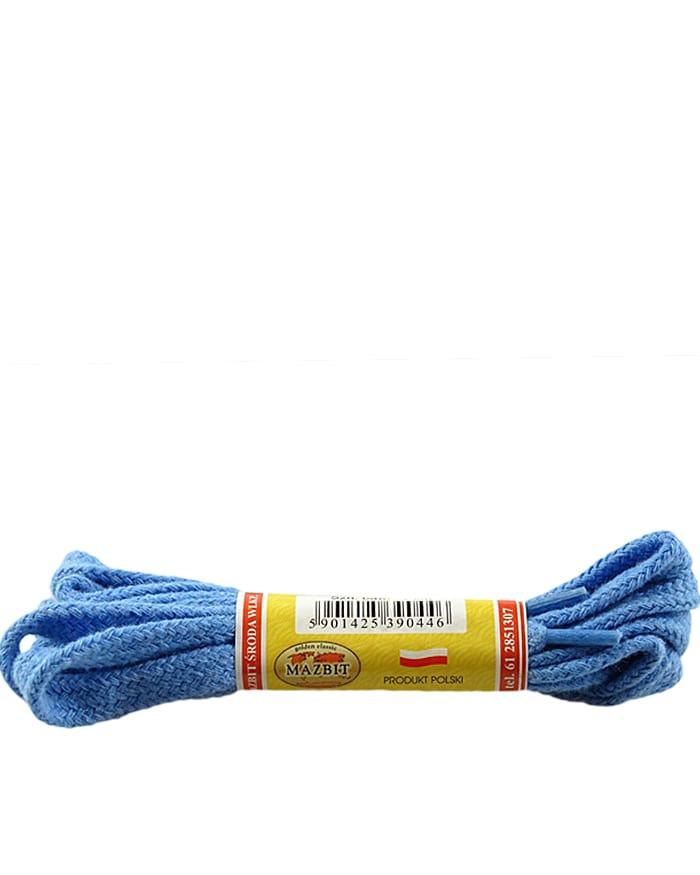 Niebieskie, płaskie sznurówki do butów 90 cm Mazbit