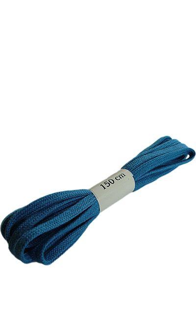 Niebieskie, płaskie, sznurowadła do butów 150 cm Halan