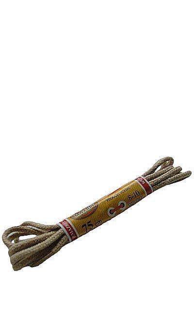 Beżowe sznurówki do butów, okrągłe cienkie 75 cm Mazbit