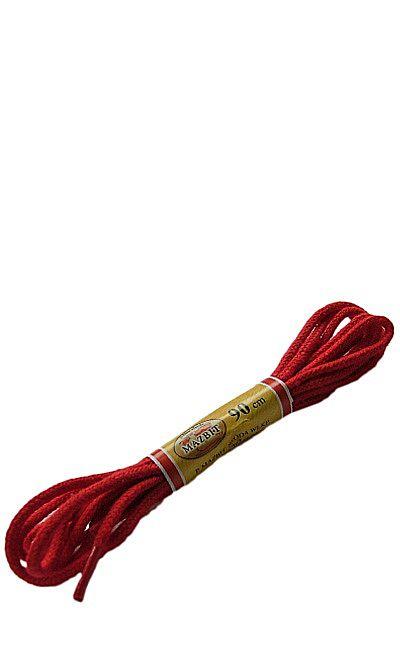 Czerwone sznurówki do butów okrągłe cienkie 90 cm Mazbit