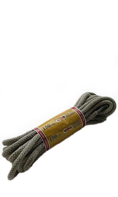 Beżowe, okrągłe grube, sznurówki do butów 150 cm Mazbit