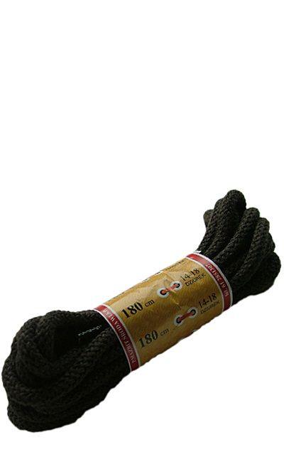 Brązowe, okrągłe grube, sznurówki do butów 180 cm Mazbit