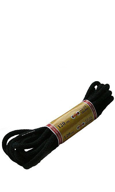 Czarne, okrągłe grube, sznurówki do butów 120 cm Mazbit