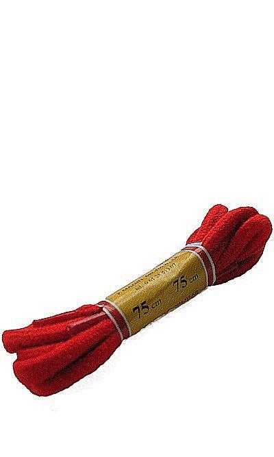 Czerwone sznurówki do butów, okrągłe grube 75 cm Mazbit