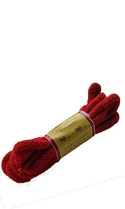 Czerwone sznurówki do butów, okrągłe grube 90 cm Mazbit