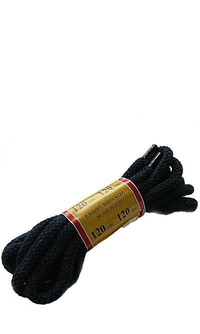 Granatowe, okrągłe grube, sznurówki do butów 120 cm Mazbit