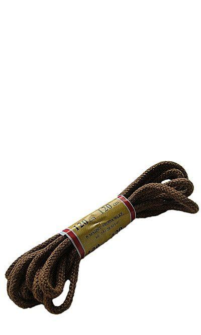 Jasnobrązowe, okrągłe grube, sznurówki do butów 120 cm Mazbit