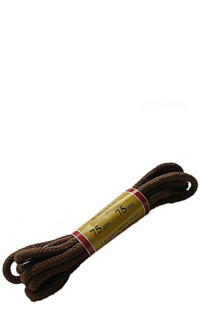 Jasnobrązowe sznurówki do butów, okrągłe grube 75 cm Mazbit