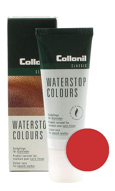Czerwona pasta do butów, Waterstop Colours Collonil 407 75 ml