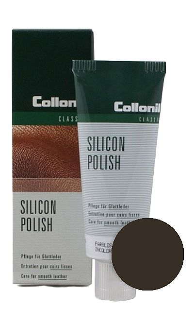 CIEMNOBRĄZOWA PASTA DO BUTÓW SILICON POLISH COLLONIL