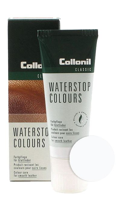 Biała pasta do butów, Waterstop Colours Collonil 025 75 ml