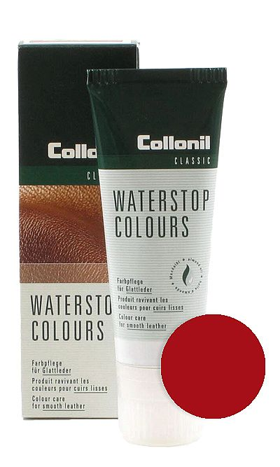 Czerwona pasta do butów, Waterstop Colours Collonil 417 75 ml