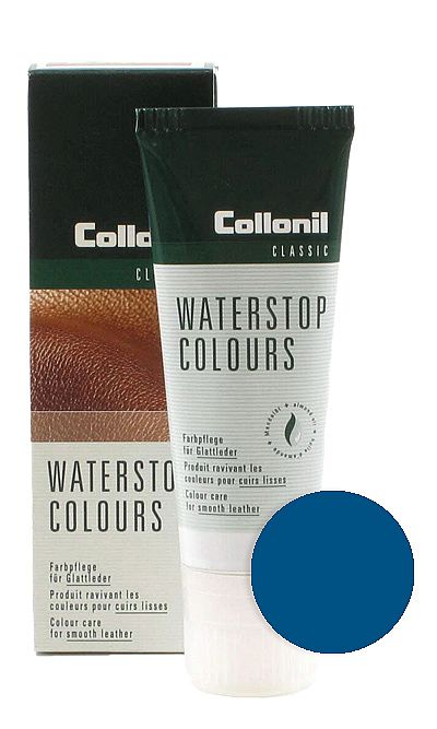 Niebieska pasta do butów, Waterstop Colours Collonil 584 75 ml