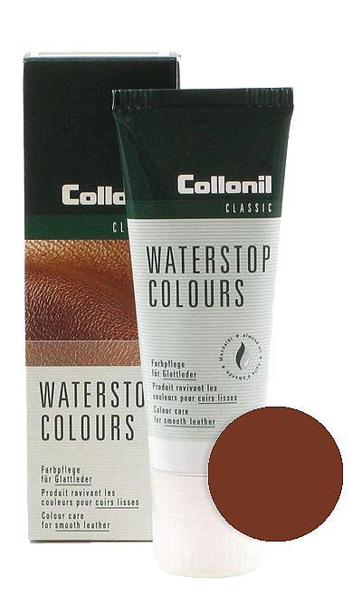 Brązowa pasta do butów, Waterstop Colours Collonil 398 75 ml