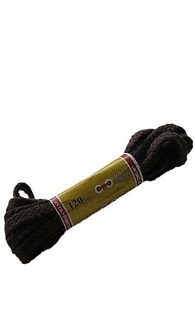Brązowe, płaskie, sznurówki do butów 120 cm Mazbit