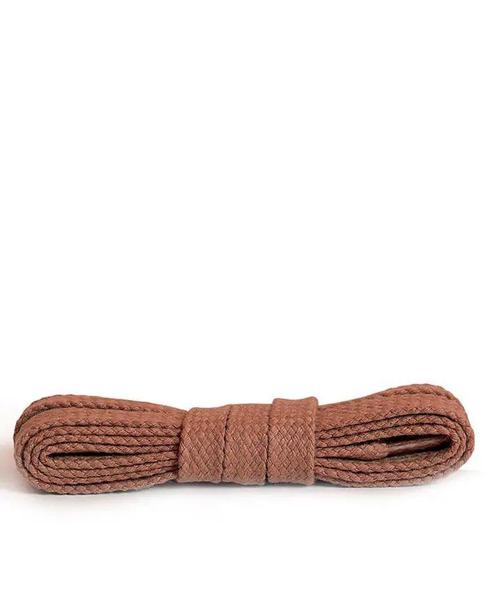 Jasnobrązowe, płaskie sznurówki do butów 90 cm Koniak Kaps