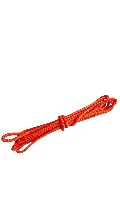 Pomarańczowe, okrągłe cienkie, woskowane sznurówki do butów, 75 cm, Bama
