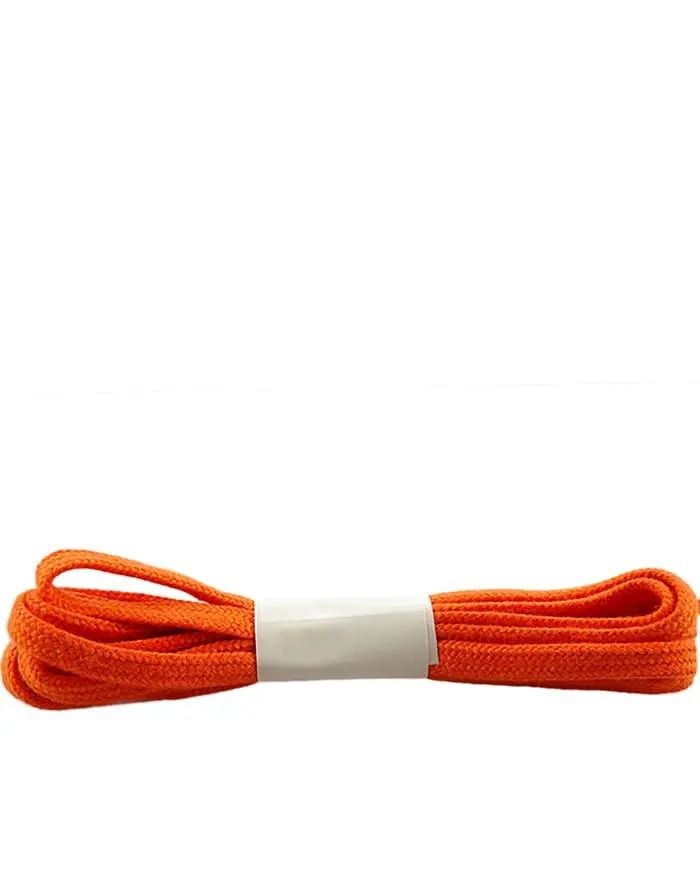 Pomarańczowe, płaskie sznurówki do butów 75 cm Halan