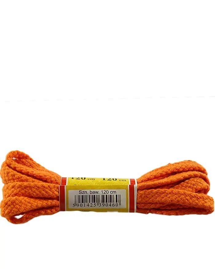 Pomarańczowe, płaskie, sznurówki do butów 120 cm Mazbit