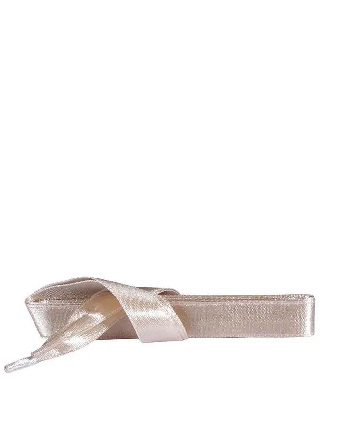 Beżowe, satynowe sznurówki do butów, płaskie, 90 cm Kaps