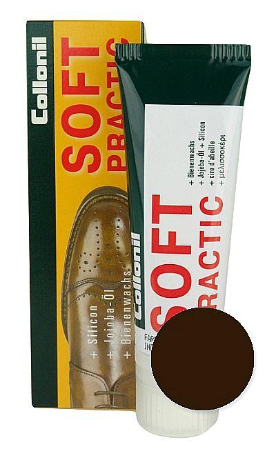 Ciemnobrązowa pasta do butów, Soft Practic Collonil 399 75 ml