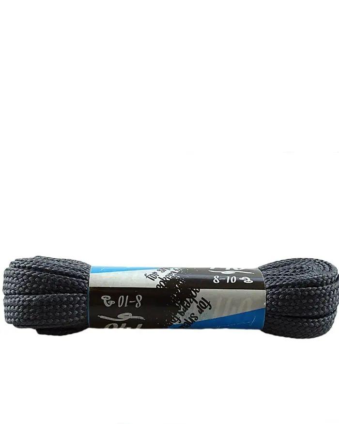 Ciemnoszare, sznurówki do sneakersów, płaskie 140 cm Kaps