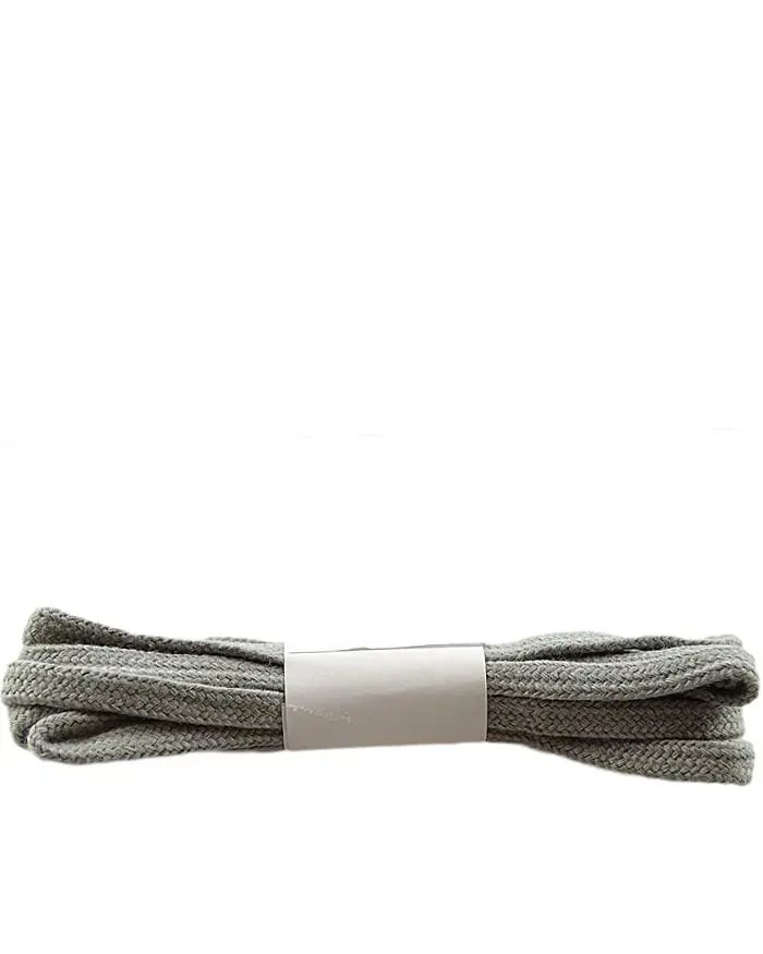 Szare, popielate, płaskie sznurówki do butów 90 cm Halan