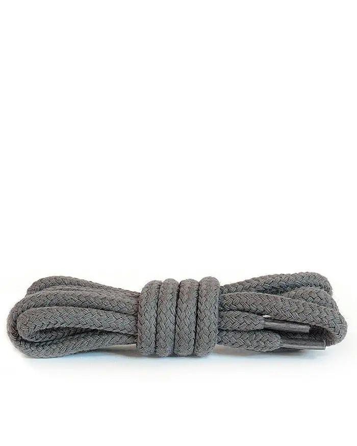 Szare, popielate, okrągłe grube, sznurówki do butów 120 cm Kaps