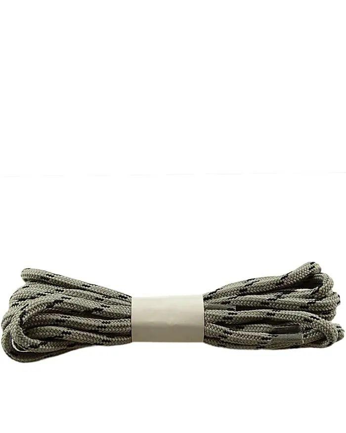 Szaro-czarne, trekkingowe sznurówki do butów 150 cm Halan