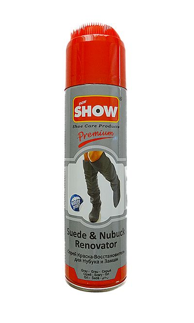 SZARY RENOWATOR DO ZAMSZU NUBUKU SHOW 220 ML