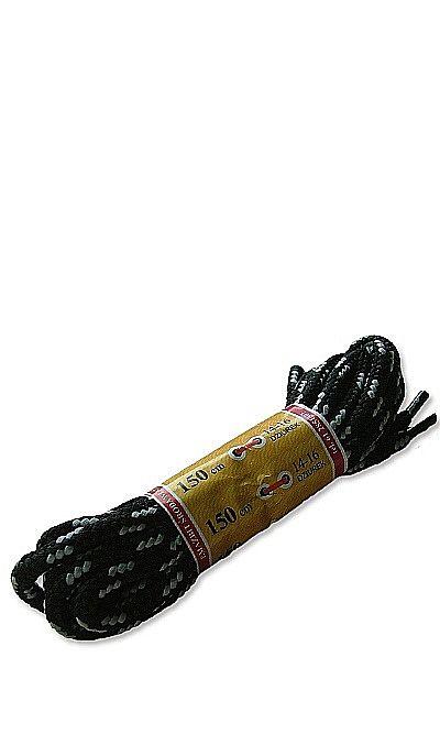 Czarno-szare, trekkingowe sznurówki do butów 150 cm cia Mazbit