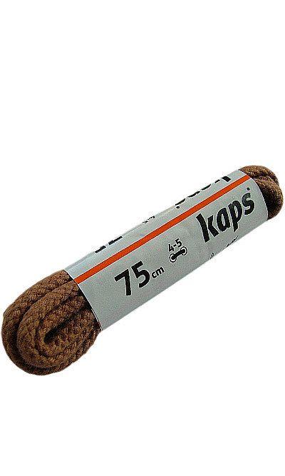Jasnobrązowe sznurówki do butów, okrągłe grube koniak 75 cm Kaps