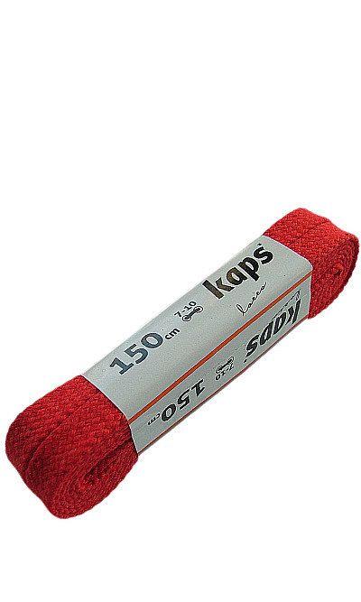 Czerwone, płaskie, sznurowadła do butów 150 cm Kaps
