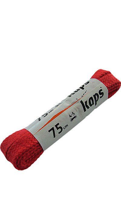 Czerwone, płaskie sznurówki do butów 75 cm Kaps