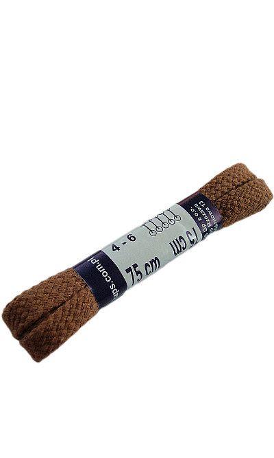 Jasnobrązowe, płaskie sznurówki do butów 75 cm Koniak Kaps