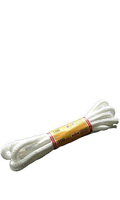 Białe, trekkingowe sznurówki do butów 100 cm Mazbit