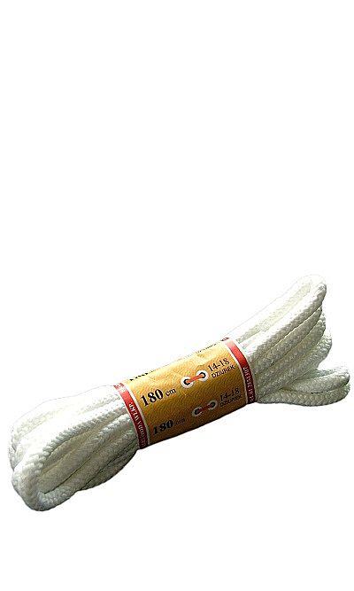 Białe, trekkingowe sznurówki do butów 180 cm Mazbit