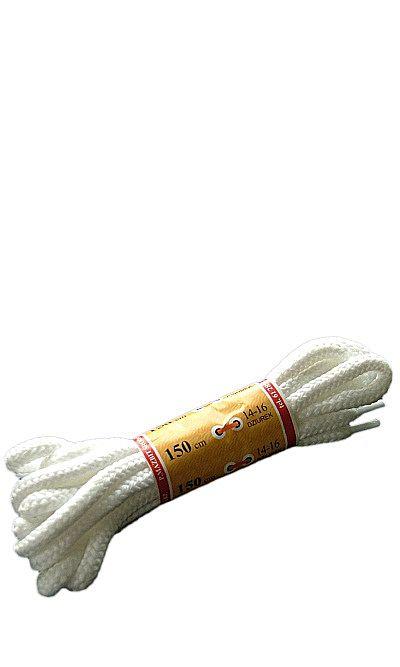 Białe, trekkingowe sznurówki do butów 150 cm Mazbit