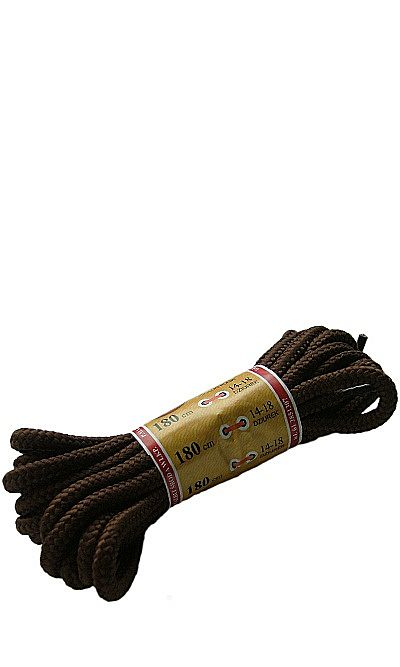 Brązowe, trekkingowe sznurówki do butów 180 cm Mazbit