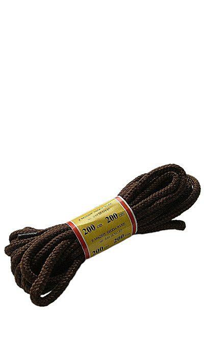 Brązowe, trekkingowe sznurówki do butów 200 cm Mazbit