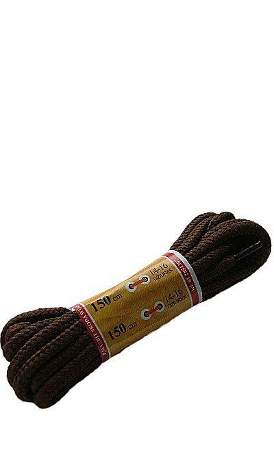 Brązowe, trekkingowe sznurówki do butów 150 cm Mazbit
