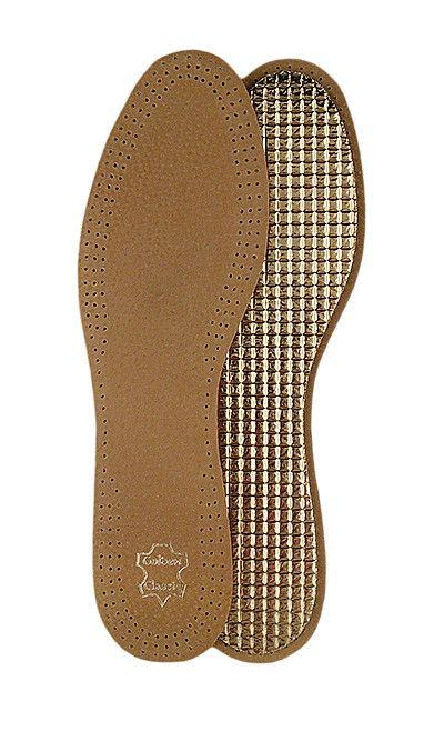 Skórzana wkładka do butów na folii aluminiowej, skóra Alu Mazbit